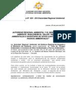 Boletin de Prensa 024 - 2013- Taller de Riesgos Ambintales y Sitios Contaminados (1)