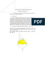 Some properties of Newton-Gauss's line