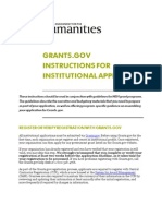 Grants Gov Instructions Institutions 2013