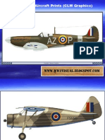 WW II British Aircraft Prints (CLW Graphics)