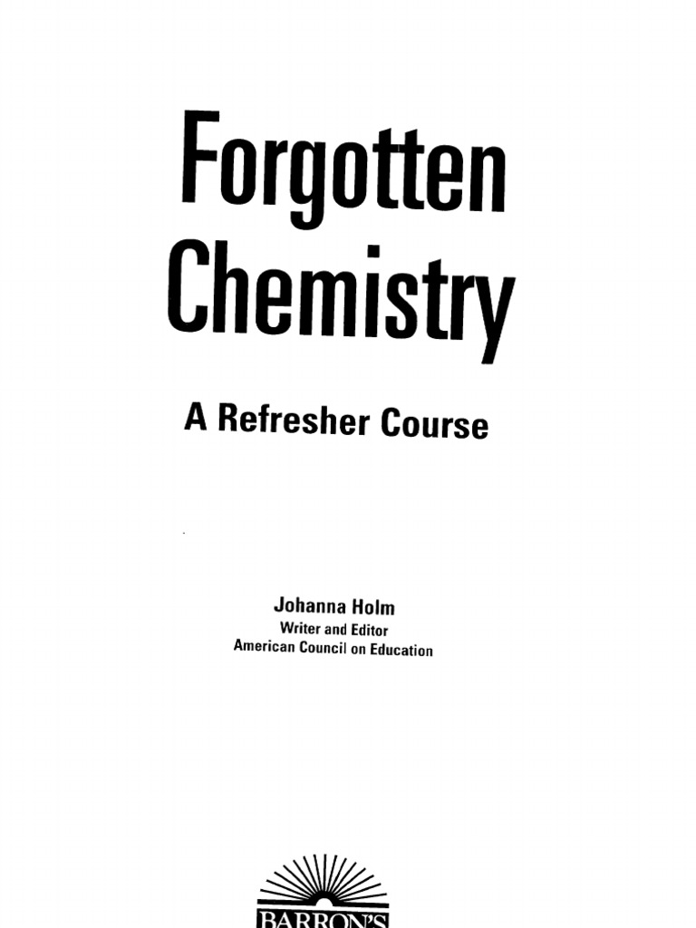 Forgotten Chemistry