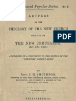 J H Smithson LETTERS on THE THEOLOGY of THE NEW CHURCH Benjamin F Barrett editor Germantown Philadelphia 1882 1883