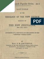 J H Smithson LETTERS on THE THEOLOGY of THE NEW CHURCH Benjamin F Barrett editor Germantown Philadelphia 1882 1883