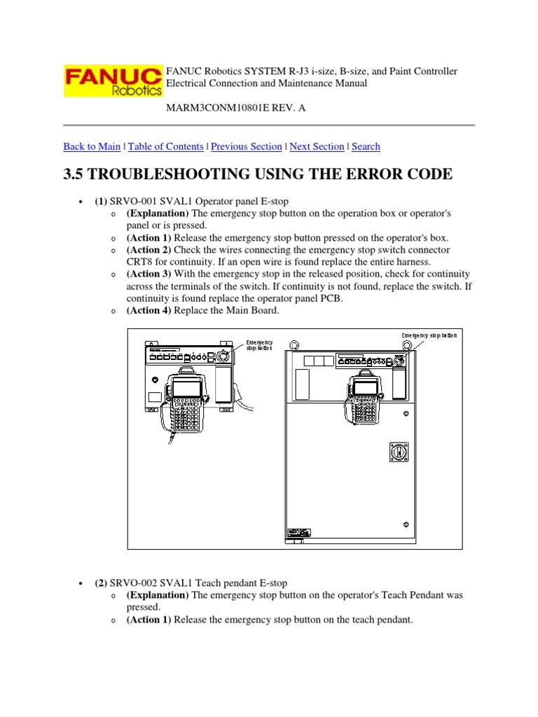 Fanuc robot maintenance Manuals