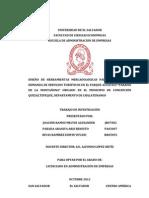 DISEÑO DE HERRAMIENTAS MERCADOLOGICAS PARA POTENCIAR LA DEMANDA DE SERVICIOS TURISTICOS EN EL PARQUE ACUATICO PARAISO DE LA MONTAÑONA