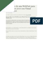 Desarrollo de Una WebPart Para SharePoint 2010 Con Visual Studio 2010