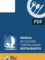 Manual de Calidad Para Restaurantes