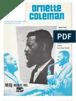 Ornette Coleman Sheet Music