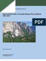 Historical Rock Falls in Yosemite