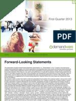 Investor Presentation Q1 2013 Barclays