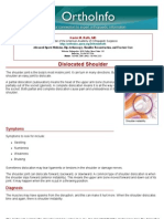 dislocated shoulder -orthoinfo - aaos
