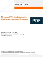 20 Years of VIX-Implications for Alternative Investments
