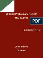 Burberry Presentation