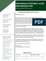 2013 Newsletters Week10