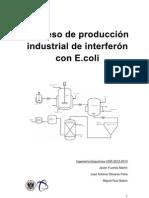 Produccion de IFN en E_coli Recombinante