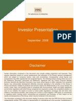 Investor Presentation Sept08