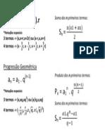 Fórmulas P.A.  e P.G.