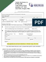 Bark for Life Registration and Waiver - 2013 Oregon