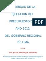 La Verdad Del Presupuesto 2012 Gore Lima