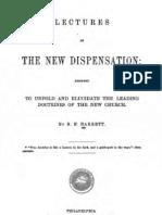 Benjamin F Barrett LECTURES ON THE NEW DISPENSATION Cincinnati 1852 Philadelphia 1868