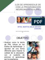 Programacion Neurolinguistica y Estilos de Aprendizaje