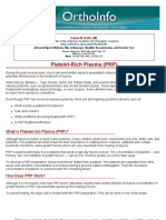 platelet-rich plasma prp-orthoinfo - aaos