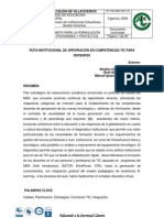RUTA INSTITUCIONAL DE APROPIACIÓN EN COMPETENCIAS TIC PARA DOCENTES