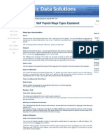 SAP HR and Payroll Wage Types