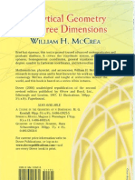 Analytical Geometry of Three Dimensi