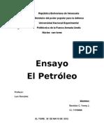 Ensayo El Petróleo Unefa