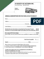 BCSV Membership Form 2013-14