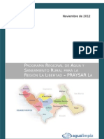 Plan Regionl de Saneamiento Rural (Praysar) La Libertad - p'Eru 2012