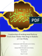 Sub Way Railway System for Lahore,Pakistan