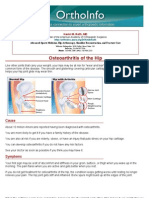osteoarthritis of the hip -orthoinfo - aaos