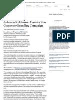 Johnson & Johnson Unveils New Corporate Branding Campaign
