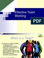 Presentation on Effective Team Working