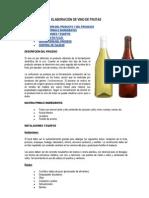 ELABORACIÓN DE VINO DE FRUTAS