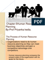 Chapter -5 Human Resource Planning