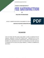 Analyzing Employee Satisfaction