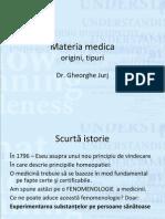 Materia Medica Tipuri Si Origini
