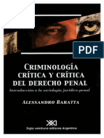 Alessandro Baratta - Criminologia Critica y Critica Del Derecho Penal