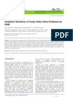 Analytical Solutions of Fuzzy Initial Value Problems by HAM