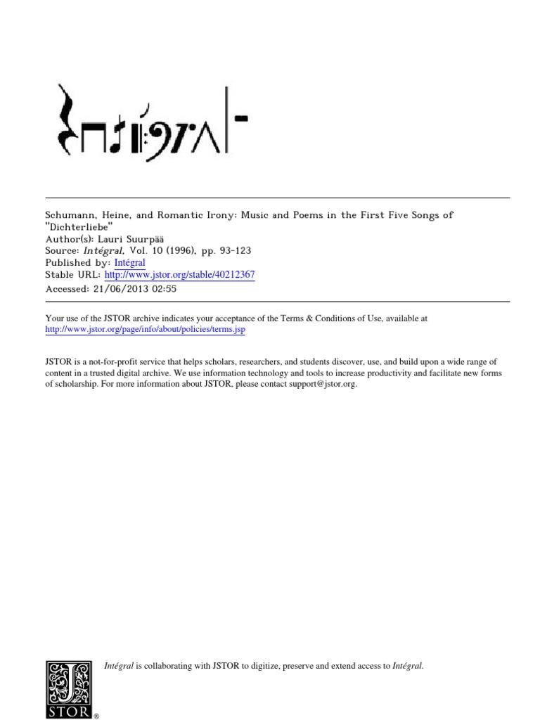 Suurpaa, Schumann, Heine, Dichterliebe (Intégral 10, 1996) | Robert  Schumann | Chord (Music)