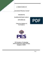 International Monetary System Term Paper