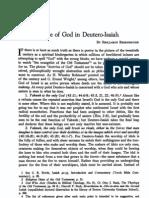 The doctrine of God in Deutero Isaiah