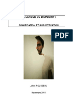 Le Dispositif -Signification Et Subjectivation