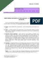 Tema I.3. Principiile Sistemului Ortografic