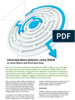 Advanced Attack Detection Using OSSIM