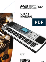 User Guide Korg Pa50sd LL