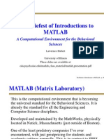 The brief introduction to matlab